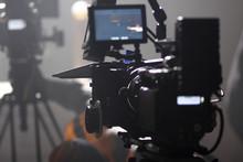 Digital Cinema Camera On A Fog...