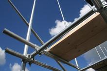 Scafolding Against Blue Sky