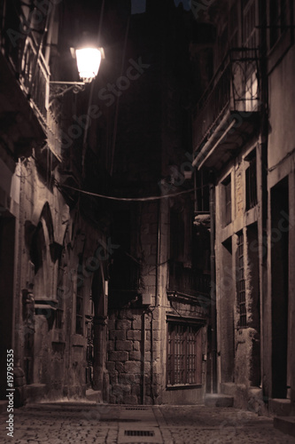 Canvas Prints Narrow alley An alley by night