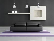Minimalist Black Interior