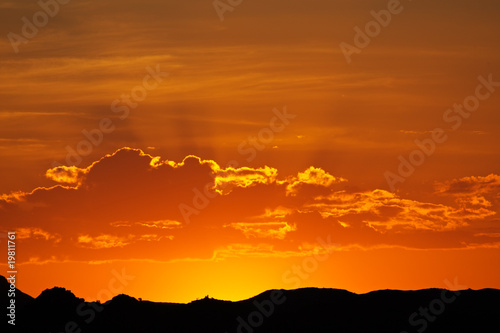 Fotobehang Baksteen Desert sunset, Namibia, southern Africa