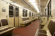 Inside of train in Moscow metro