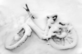 Bike in snow - 19819174