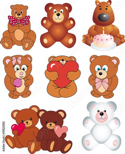 Foto-Stoff - Bears vector (von abrakadabra)