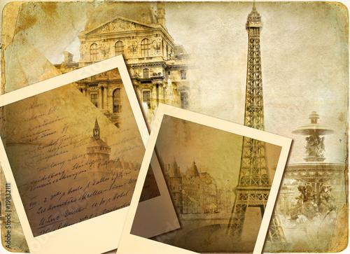 Papiers peints Retro parisian vintage photoalbum