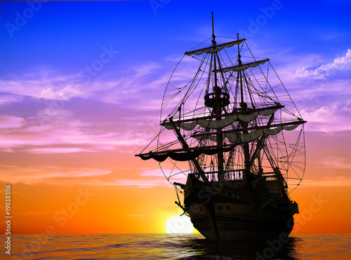 Foto op Aluminium Schip The ancient ship