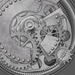 A Mechanical Background with Rivets and Cogs