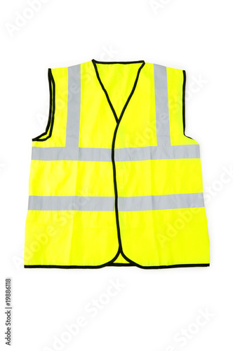 Fotografía  Yellow vest isolated on the white background