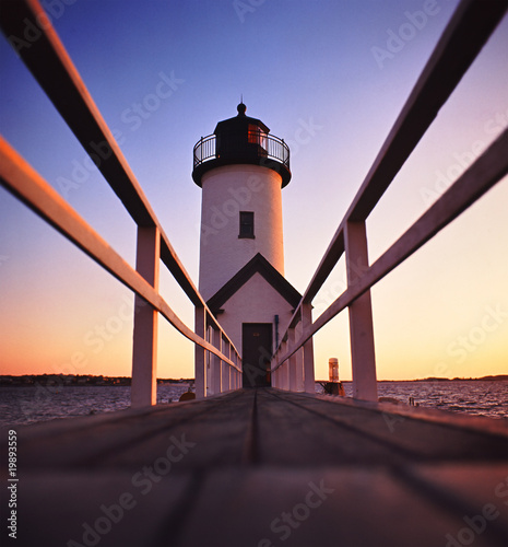 Fototapeta Lighthouse after sunset