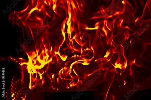 Fotografia, Obraz  Flames Fire of Hell