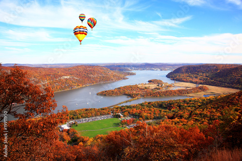 Fotografie, Tablou  The foliage scenery at Hudson River region