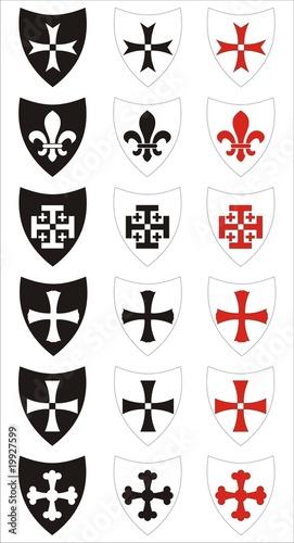 Photo set of heraldic symbols