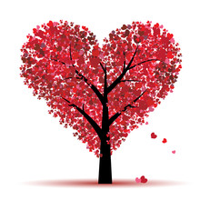 Valentine Tree, Love, Leaf Fro...