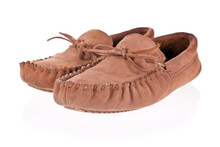 Pair Of Moccasin Slippers Isol...
