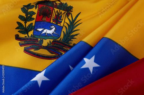 Papiers peints Amérique du Sud Macro shot of Venezuelan flag