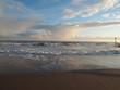 Clouds over a rough sea
