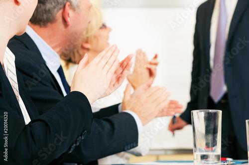 Fotografía  Business Präsentation: Applaus