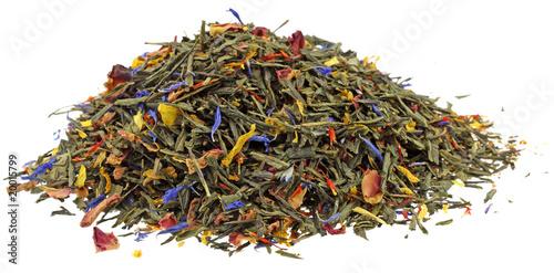 thé, mélange geisha fond blanc Canvas Print