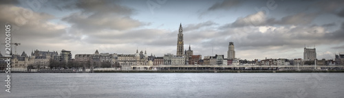 Poster Antwerp Antwerp City Panorama (High res)