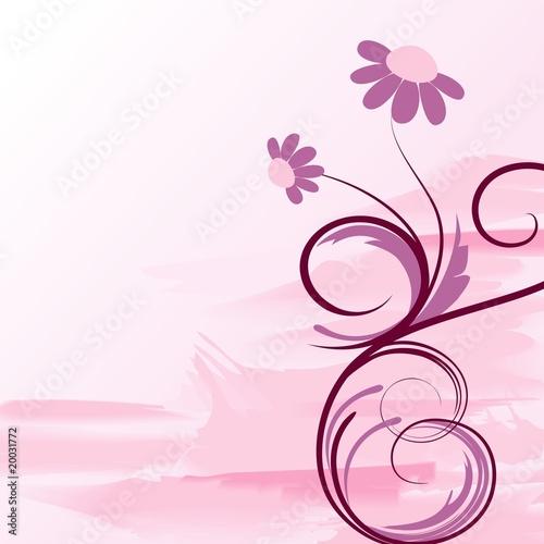 kwiatowa-rozowa-farba-z-stokrotkami