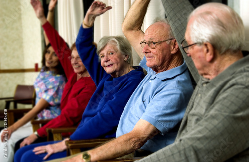 Fotografie, Obraz  Seniors exercising