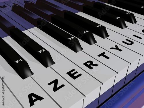 Valokuva  piano azerty