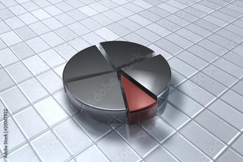 Fotografía  3D Kreisdiagramm