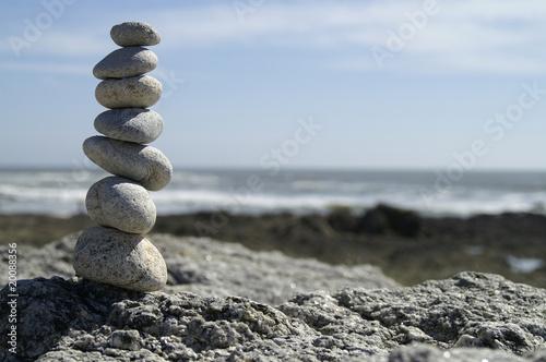 Photo sur Plexiglas Zen pierres a sable zenitude