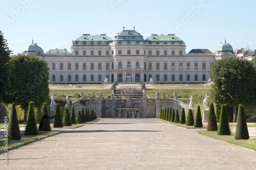 belvedere in vienna - morning