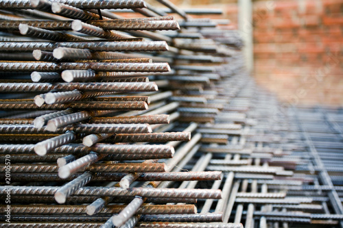 Pile of rusty armature Canvas Print