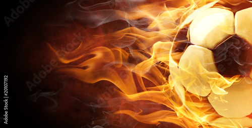 Obrazy sport  symbol-flamy