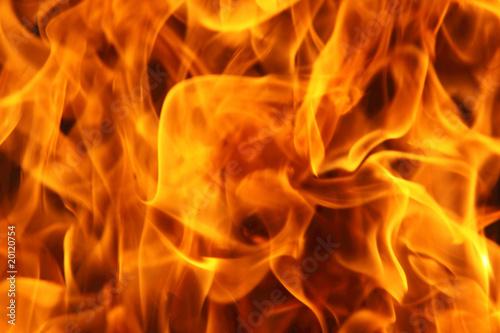Fotobehang Vuur Burning fire