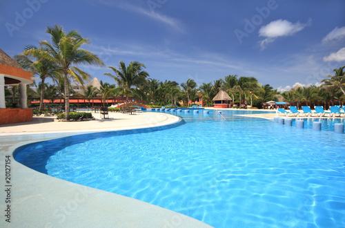 Fotomural Beach resort swimming pool