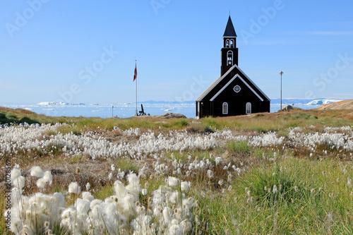Photo sur Toile Cimetiere Zion Church in Jakobshavn, Greenland W.