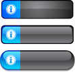 Info web buttons. Vector illustration