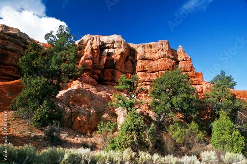 Poster Parc Naturel Landscape of Utah state. USA