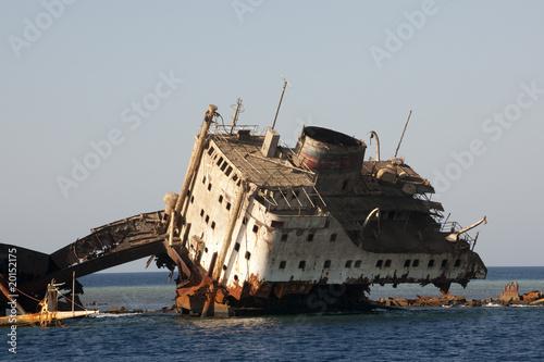 Photo Stands Shipwreck Epave dans le détroit de Tiran, Sinai, Egypte