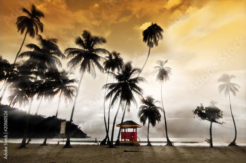 Fotografia, Obraz Maracas Beach - Lifeguard Hut