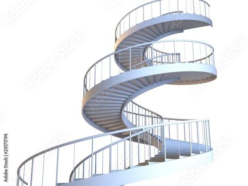 Valokuva  Spiral strairs isolated