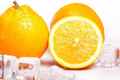 Poster Dans la glace Ice Orange