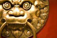 It Is Chinese Style .lionhead Knocker Door