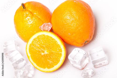 Poster Dans la glace Cold Oranges