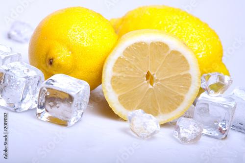 Poster Dans la glace Frozzy lemons!