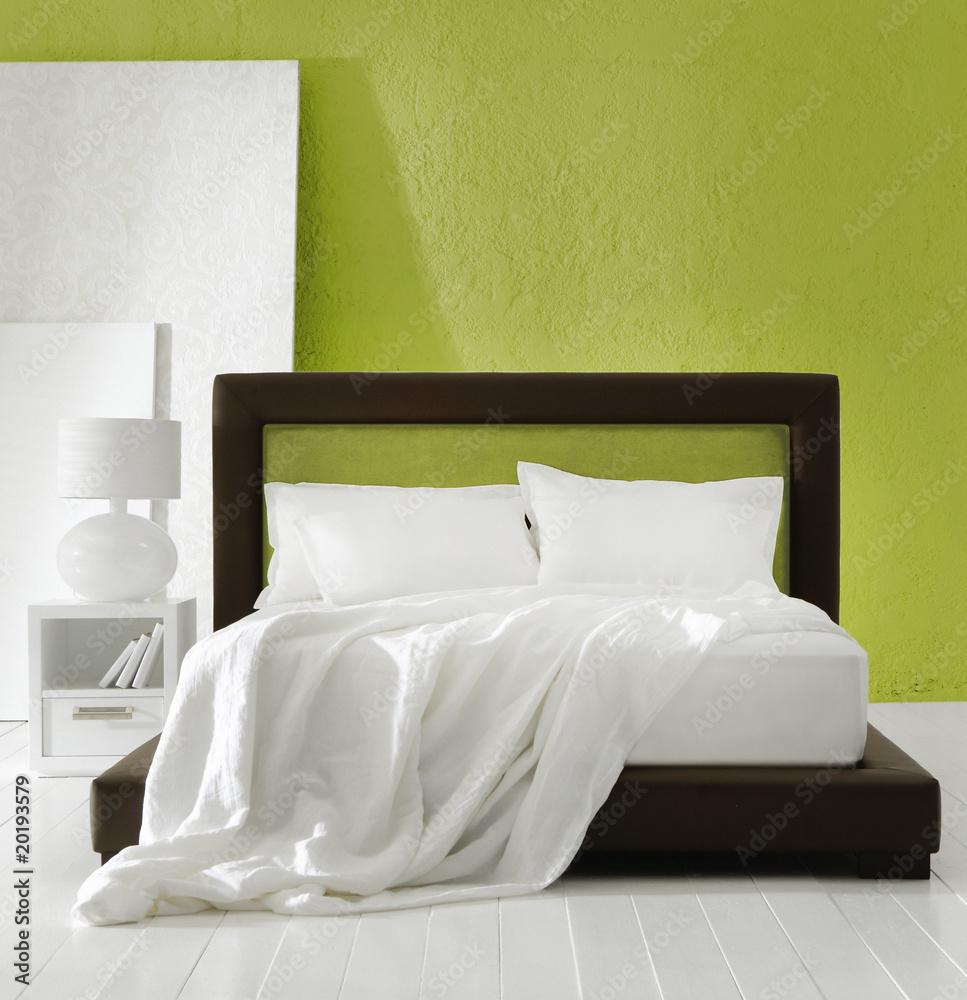 Grünes Schlafzimmer Foto, Poster, Wandbilder bei EuroPosters