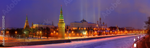 Kremlin in winter's morning Fototapeta