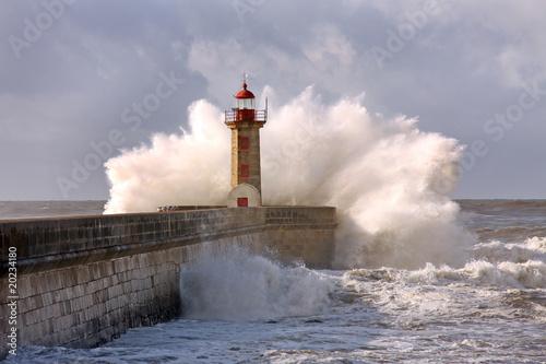 Foto op Aluminium Vuurtoren lighthouse oporto, portugal