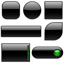 Blank Black Plastic Buttons Fo...