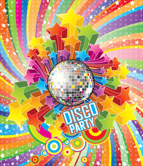 Fototapeta Disco Party Vector Illustration