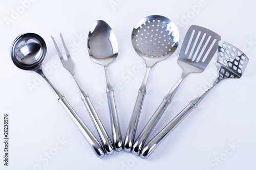 Fotomural  series of images of kitchen ware. Kitchen tools