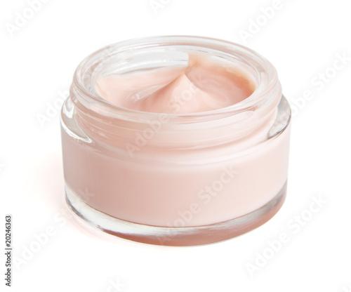 Fotografia Face cream in a jar with clipping path